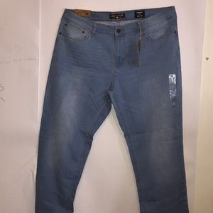 Ring of Fire light wash control denim straight leg